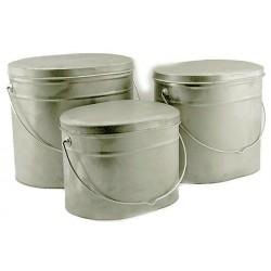 Набор титановых котелков 3 шт 4 л, 5 л, 6.5 л